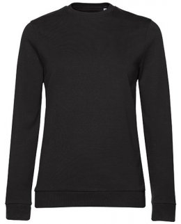 Svart  dam sweatshirt med eget tryck