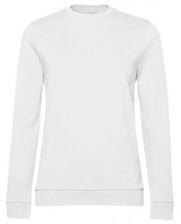 Vit dam sweatshirt med eget tryck
