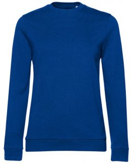 Kungsblå dam sweatshirt med eget tryck