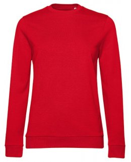 Röd dam sweatshirt med eget tryck