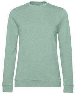 Pistagegrön dam sweatshirt med eget tryck