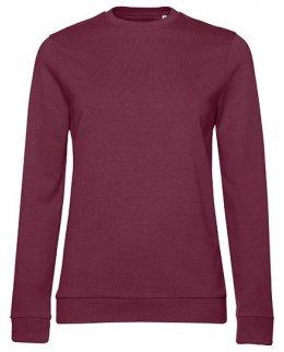 Vinröd dam sweatshirt med eget tryck