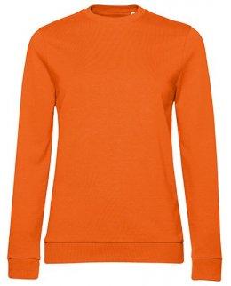 Orange dam sweatshirt med eget tryck