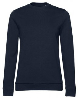 Marinblå dam sweatshirt med eget tryck