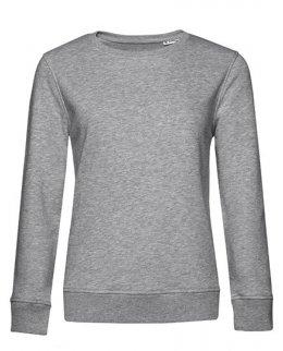 Gråmelerad dam sweatshirt med eget tryck