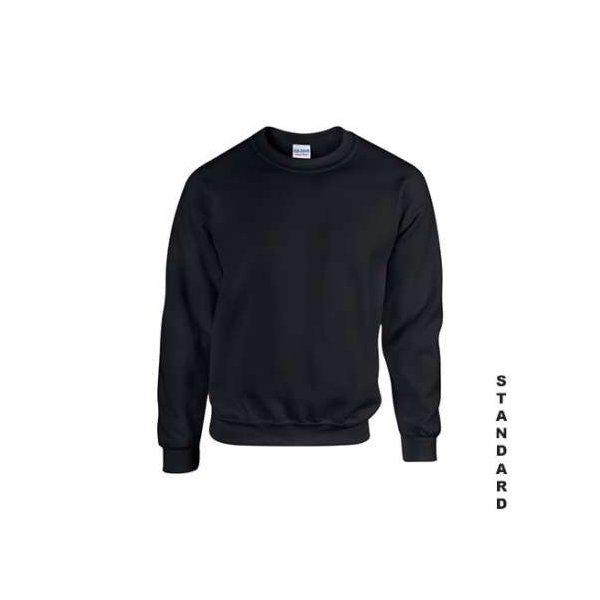 Svart standard sweatshirt med eget tryck