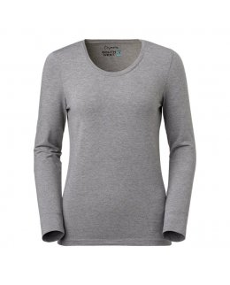 Svart modell Uringad långärmad dam t-shirt med eget tryck