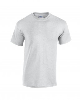 Askgråmelerad t-shirt med eget tryck - Standard Unisex