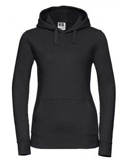 Svart dam-hoodie med eget tryck
