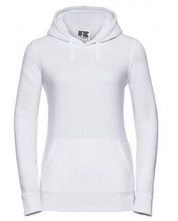 Vit dam-hoodie med eget tryck