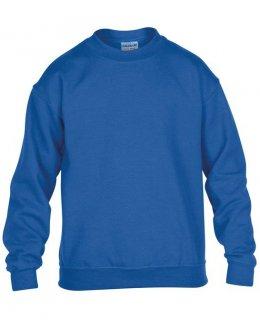 Kungsblå standard sweatshirt barn med eget tryck