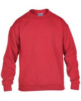 Röd standard sweatshirt barn med eget tryck