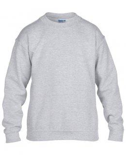 Gråmelerad standard sweatshirt barn med eget tryck