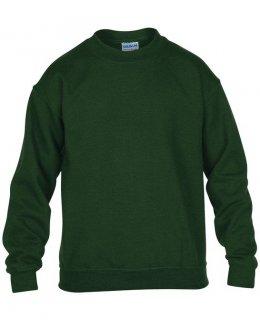 Mörkgrön standard sweatshirt barn med eget tryck