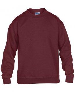 Vinröd standard sweatshirt barn med eget tryck