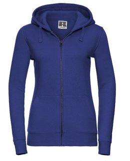 Kungsblå zip-hoodie dam med eget tryck