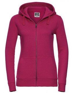 Rosa zip-hoodie dam med eget tryck