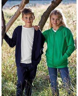 Eko barn zip-hoodie Fairtrademärkt