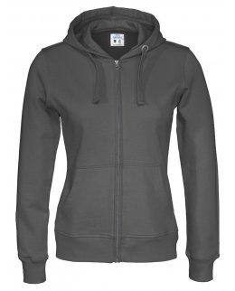 Eko zip-hoodie dam med eget tryck Fairtrademärkt