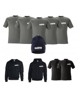 Företagspaket kläder med tryck - 5, 10, 25, 50, 100-pack