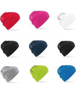 Marinblå Bomulls-mössa med tryck - 5, 10, 25, 50, 100-pack