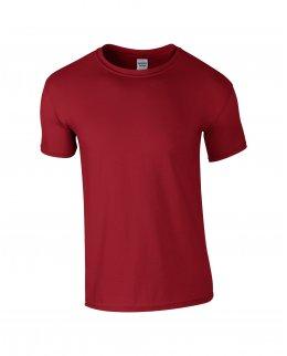 Mörkröd herr t-shirt med eget tryck