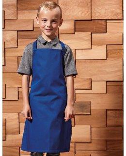 Kungsblått Förkläde barn med eget tryck