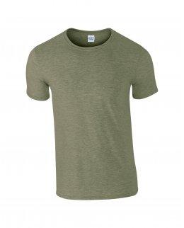 Militärgrön melerad herr t-shirt med eget tryck