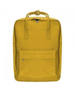 Gul Frilufts-ryggsäck med egen brodyr