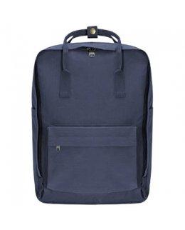 Jeansblå Frilufts-ryggsäck med egen brodyr