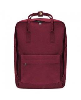 Röd Frilufts-ryggsäck med egen brodyr