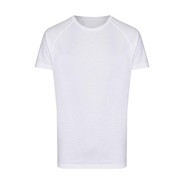 Vit lång t-shirt med egen design