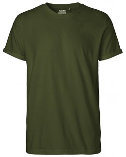 White Roll-up t-shirt med eget tryck