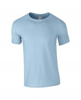 Ljusblå herr t-shirt med eget tryck