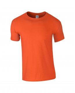 Orange herr t-shirt med eget tryck