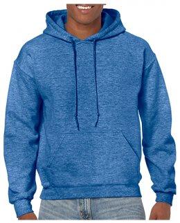 Heather Sport Royal Standard hoodie med eget tryck