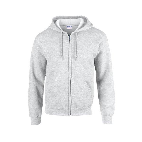 Ash (Heather) zip hoodie med eget tryck
