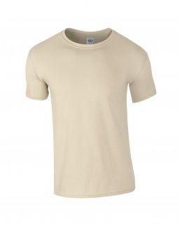 Sandfärgad herr t-shirt med eget tryck