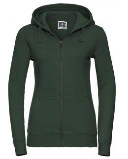 Standard zip-hoodie dam med eget tryck