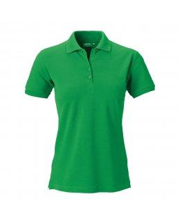 Grön dam pikétröja med eget tryck Standard