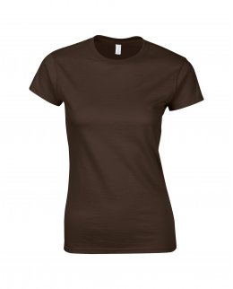 Mörkbrun tjej t-shirt med eget tryck - Girl