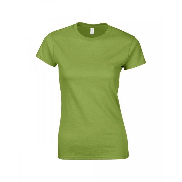 Kiwigrön tjej t-shirt med eget tryck - Girl