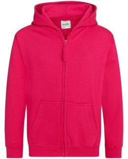 Cerise barn zip-hoodie med eget tryck