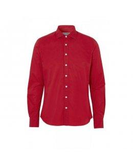 Röd twill comfort skjorta herr - egen brodyr