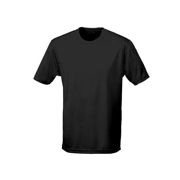 Svart tränings t-shirt med eget tryck