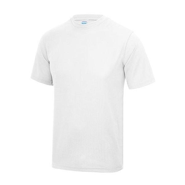 Vit tränings t-shirt med eget tryck