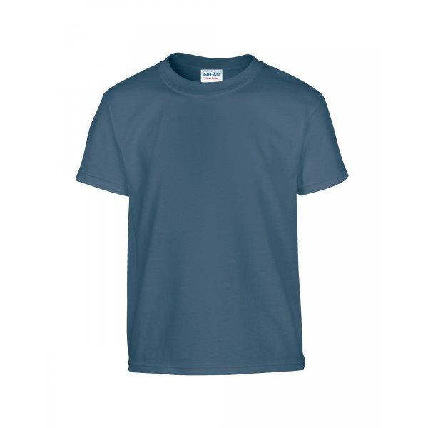 Indigoblå barn t-shirt med eget tryck - Standard