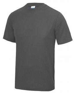 Blyertsgrå tränings t-shirt med eget tryck
