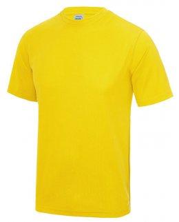 Gul tränings t-shirt med eget tryck