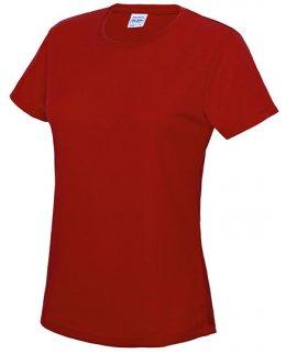 Röd Tränings t-shirt Dam Med Eget Tryck